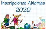 Inscripciones Abiertas 2020